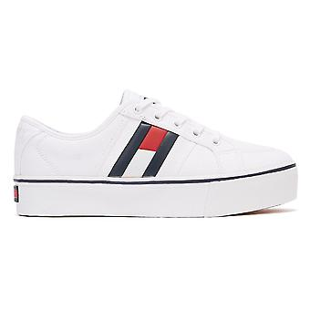 Tommy Jeans Flatform Flag Womens White Trainers