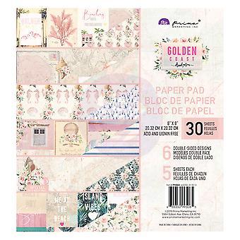 Prima Marketing Golden Coast 8x8 Inch Paper Pad