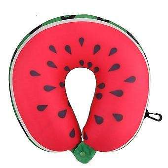 Fruit U Shaped Travel Pillow - Nanoparticles Neck Pillow Car Pillows