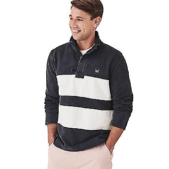 Crew Clothing Mens Twill Panel Padstow Collared Sweatshirt