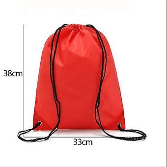 Waterproof Drawstring Backpack - Outdoor Travel Organizer Housekeeping Storage Bag For Clothes Shoes Kids Toy