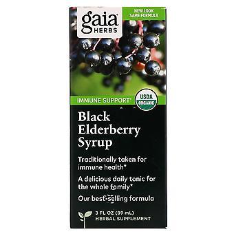 Gaia Herbs, Black Elderberry Syrup, 3 fl oz (89 ml)