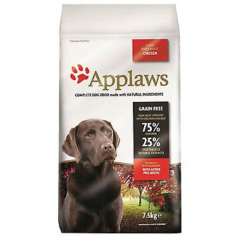 1 x 7.5kg Applaws Grand Adulte Dog Dry Food Chicken Meat Natural Pet Snack