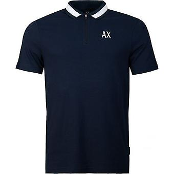 Maglia Polo a collo zip Armani Exchange Contrast Collar