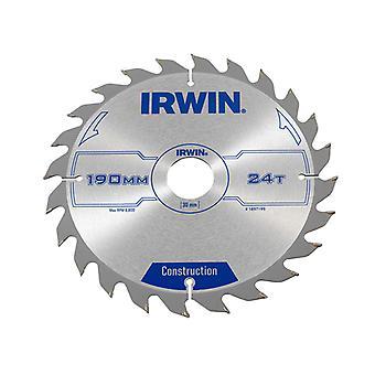 IRWIN Circular Saw Blade 190 x 30mm x 24T ATB IRW1897199