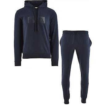 Emporio Armani Loungewear Navy Hooded Long Sleeve Sweatshirt & Trousers