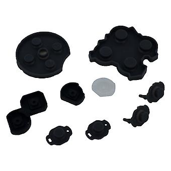 Conductive contacts for nintendo switch pro controller silicone rubber pad button kit - black | zedlabz