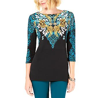 JM Collection | Printed 3/4-Sleeve Top