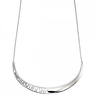 Elements Silver Half Cut Out Collar On Chain Necklace N4174