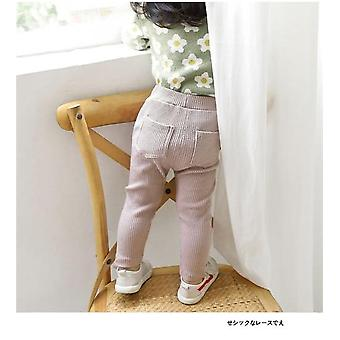 Baby Leggings Cotton Big Pp Pants, Spring Autumn Kids Solid Long Trousers's