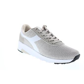 Diadora Evo Run  Mens Gray Canvas Lifestyle Sneakers Shoes