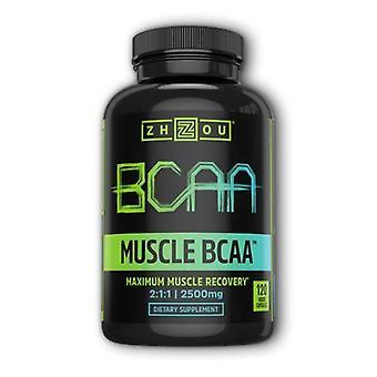 Zhou Nutrition Muscle BCAA, 120 Veg Caps