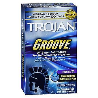 Trojan Groove Premium Lateksikondomit, 10 kutakin