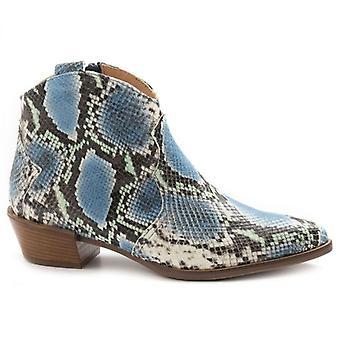 Botas de tobillo Sangiorgio Azzurri para mujer en piel con estampado Python