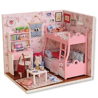 Diy-talon miniatyyri huonekaluilla