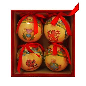 Islandcraft Hat Box Of Four Scottish Weave Gloss Baubles