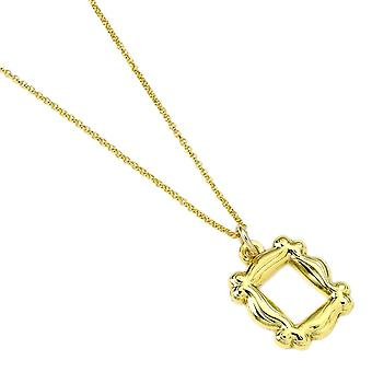 Friends Gold Plated Photo Frame Pendant Necklace