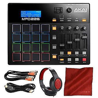 Akai professionelle mpd226 Midi Drum Pad USB-Controller mit Kopfhörer & Zubehör-Bundle