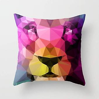Wild Animal Print Neon Pillow And Cover