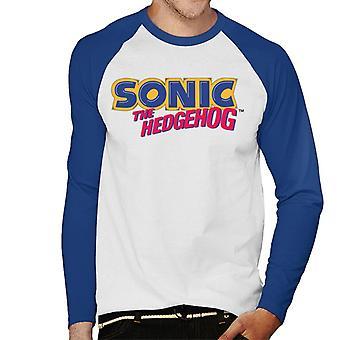 Sonic The Hedgehog Classic Logo Men's Baseball Long Sleeved T-Shirt