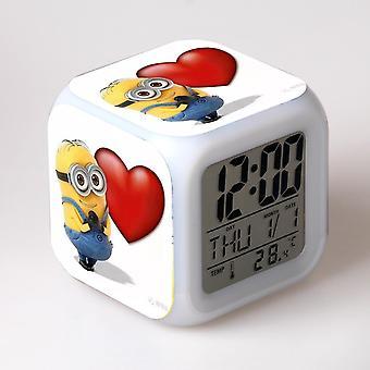 צבעוני רב תכליתי הוביל ילדים & apos;שעון מעורר -minions #61