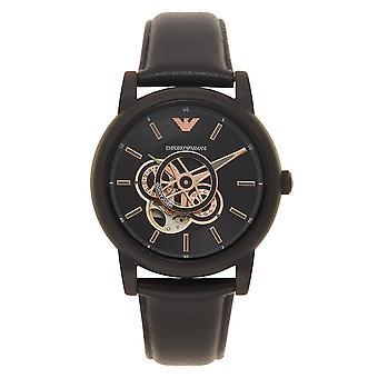 Armani Ar60012 Meccanoco Black Leather Automatique Men-apos;s Montre