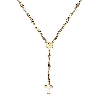 Gold-plated cross necklace 45cm