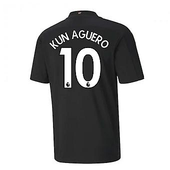 2020-2021 Manchester City Puma Borte Fotball skjorte (KUN AGUERO 10)