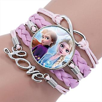 28 Styles Disney Make Up Jewelry Frozen 2 Elsa Anna Princess Cartoon Bracelet