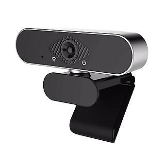 Webcam de computador com microfone embutido, acessórios de vídeo widescreen (preto)