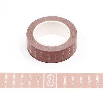 Aikataulu Washi Tape 15mm x 10m