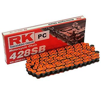 Drive Chain 428 Pitch 124 Spring Link Open Orange For KTM SX 85CC 2003-2020