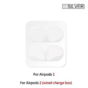 Metal Dust Guard Skin Protective Sticker For Airpods, Earphone