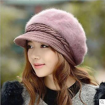 Winter Women Fashion Thicken Warm Knitted Wool Cap.