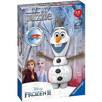 Ravensburger Frozen 2, Olaf vormige 3D Puzzel, 54 stuks
