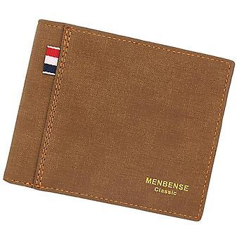Men's Wallet Money Bag, Leather Business Short Famous Male Wallets