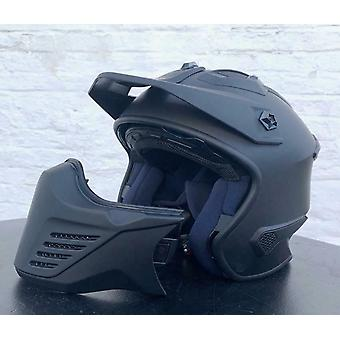 Spada Storm Open Face Motor Helm Matt Black