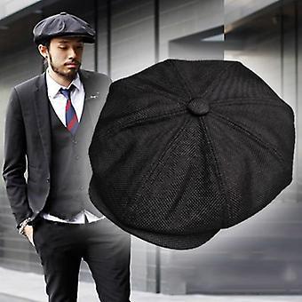 New Beret Gatsby Octagonal Hats, Retro British Newsboy Cap/women
