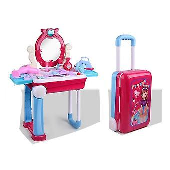 Mädchen Make-Up Gepäck Kinder-dress Up Kosmetische Playset