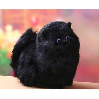 Doldurulmuş Hayvanlar Gerçek Saç Kedi Bebekleri - Simülasyon Hayvan Oyuncağı