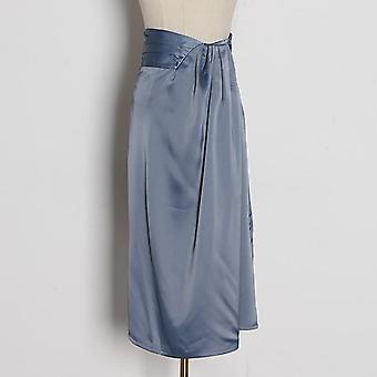 Irregular Side Split Skirt, Ruched Skirts For Female
