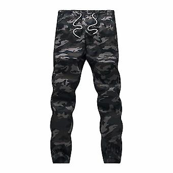 Camouflage Military Jogger Pants Men Pure Cotton Spring Autumn Pencil Harem