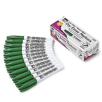 Dry Erase Markers - Pocket Style, Green/Bullet