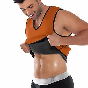Men's Waist Trainer Sweat Body Shaper Tank Top, Slimming Trimmer T Shirt