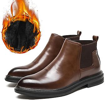 Winter Chelsea Men Leather Shoes, Ankle Boots