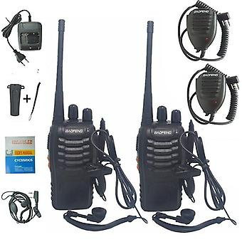 Radio Transceiver Bf-888s Walkie Talkie Two-way Set Uhf 400-470mhz 16ch