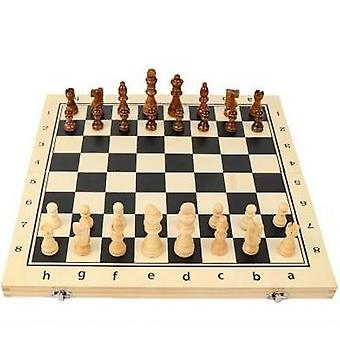 Wooden Folding Magnetic Chess Set Solid Wood Chessboard Pieces Entertainment