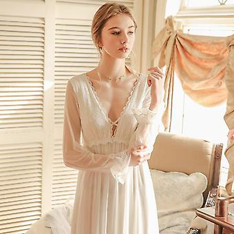 Ladies Nightgown, Lace Long Nightdress For Woman