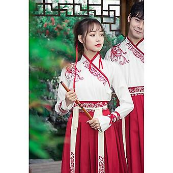 Women Ancient Chinese National Costumes Hanfu Festival Stage Performance Dance