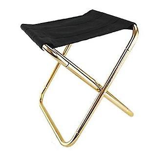 Cadeira dobrável ao ar livre Camping Alumínio Pescar Assento Portátil